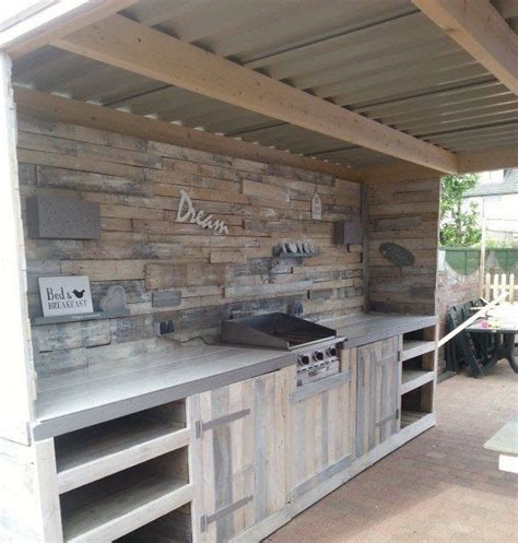 Feuerschale Selber Bauen 1555 by Outdoor Kitchen Made From Repurposed Pallets Recycled