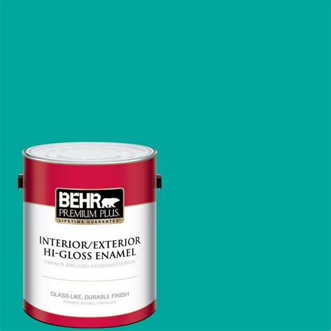 behr premium plus 1 gal home decorators collection tropical sea hi gloss enamel interior
