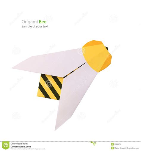How To Make A Paper Bee - origami paper bee stock photos image 33296703