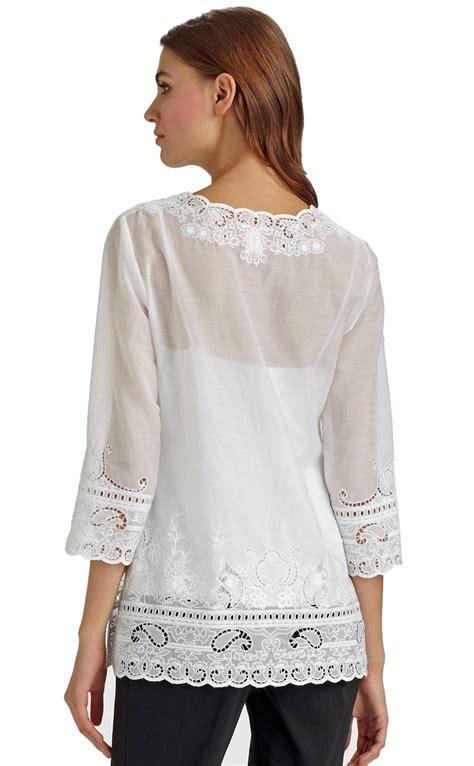 Venetta Blouse Limited elie tahari white eyelet embroidered tunic blouse top nwt medium ebay