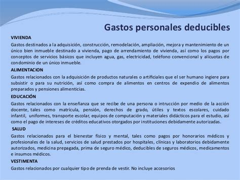 Gastos Personales Deducibles 2016 Mexico | gastos en efectivo deducibles 2016 upcoming 2015 2016