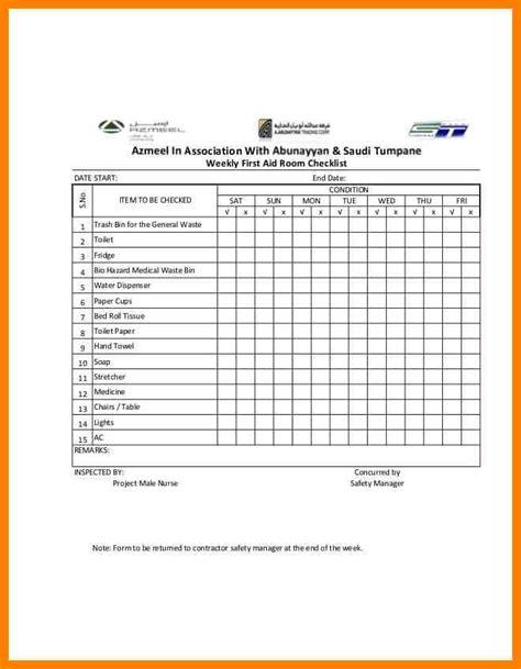 aid template comfortable aid checklist template photos exle