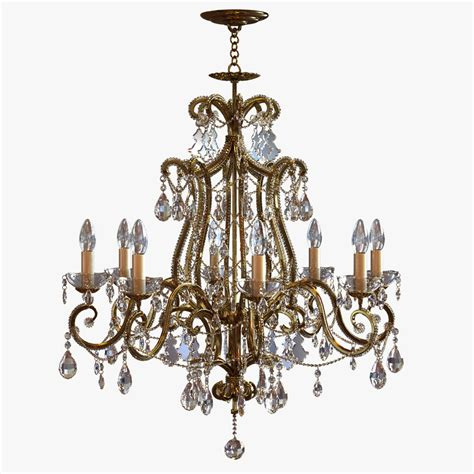 3ds Max Chandelier Classic Pendants Classical Chandelier
