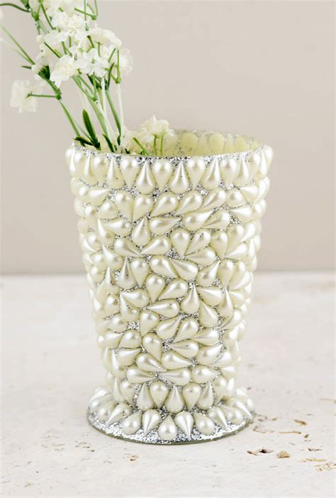 pearl covered mint julep vase 4 5 quot