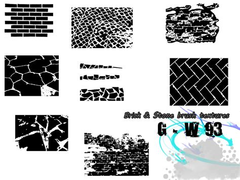 brick pattern brush photoshop brick and stone textures photoshop brushes by g w93 on