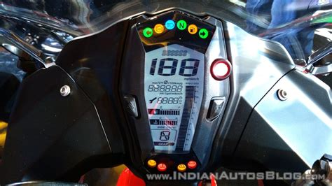 tvs apache rr  red india launch instrument cluster