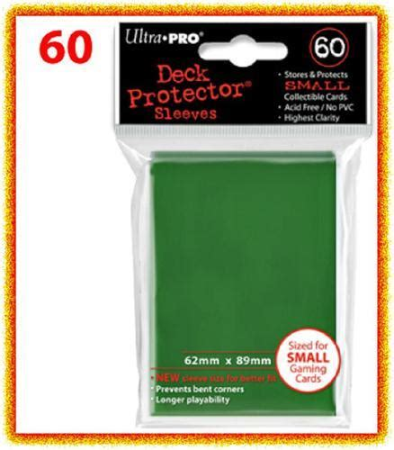 Ultra Pro Deck Protector Small Solid Green 60 ultra pro deck protector card sleeves green yu gi oh