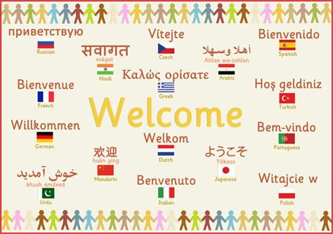 printable welcome poster multilingual welcome poster free early years primary