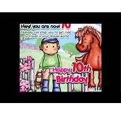 Happy 10th Birthday Greetings Card/E Card/Egreetings