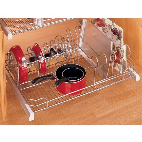 Rev A Shelf Pots And Pans by Rev A Shelf Inchpremiereinch Pull Out Cookware Organizer