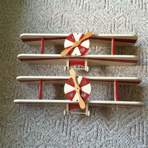 biplane airplane shelf great for room or boys