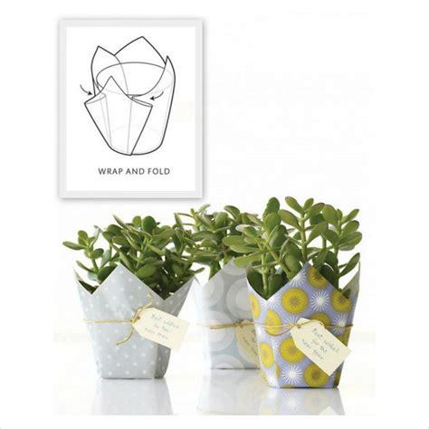 Flower Pot Wrap Template