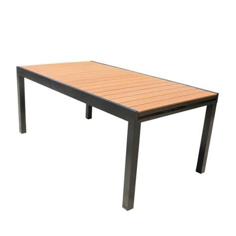 table jardin aluminium extensible 1706 table de jardin composite achat vente pas cher
