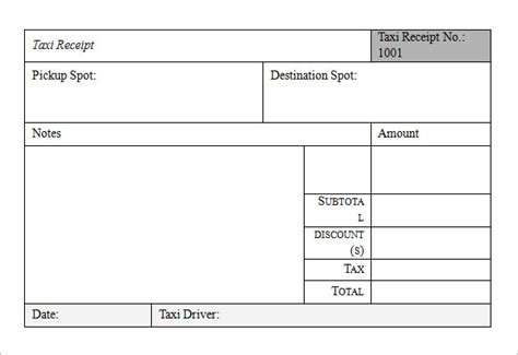 Receipt Template Taxi by Search Results For Blank Receipts Calendar 2015