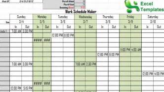 Schedule Maker Template by Work Schedule Maker Free Work Schedule Maker