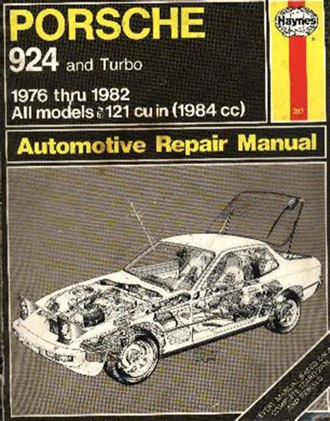 haynes car manual porsche 924s 944 1983 1989 80035 ebay 924 garage technical section