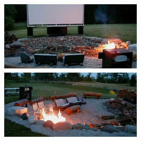 backyard theater backyard fire pit movie theater let s go home