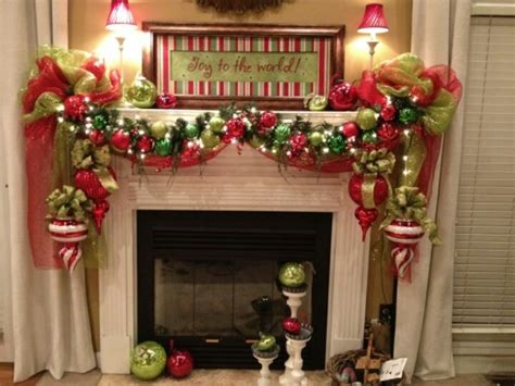 beautiful decorated mantel decor