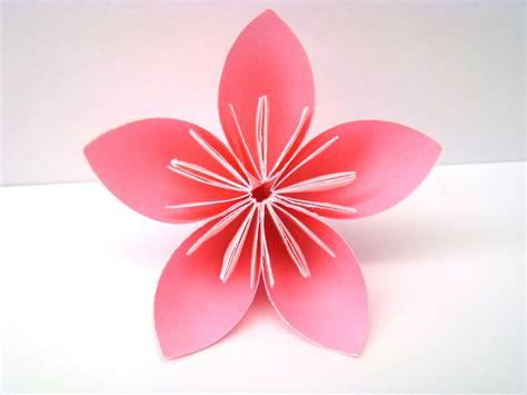 5 Petal Flower Origami - five petal kusudama flowers pink breast by origamidelights