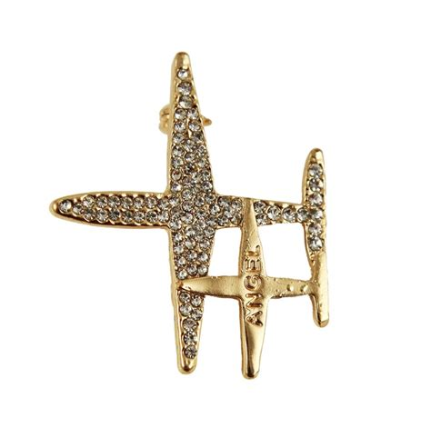 Plane Brooch venetti diamante plane brooch on jewellery world
