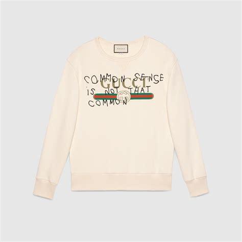 Hoddie Gucci gucci coco capit 225 n logo sweatshirt gucci sweatshirts 475532x3i069097