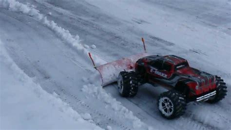 maxx rc trucks plowing snow youtube