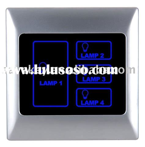 touch screen lighting control panel hotel intelligent network infrared remote lighting control