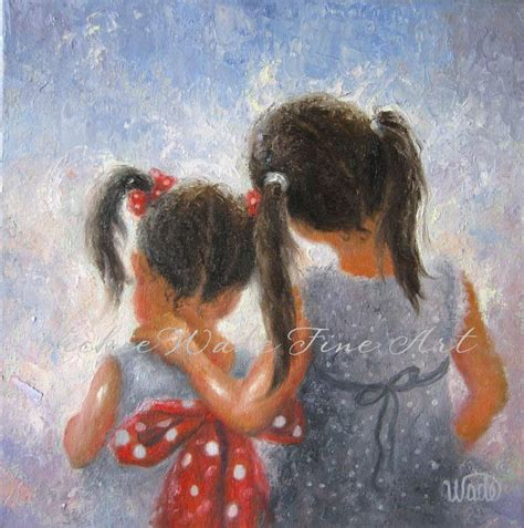 images of love of sisters two sisters art print two girls loving sisters childrens