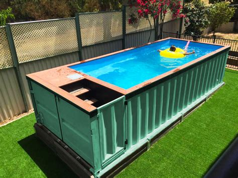seecontainer pool backyard pools out of storage containers the travel insider