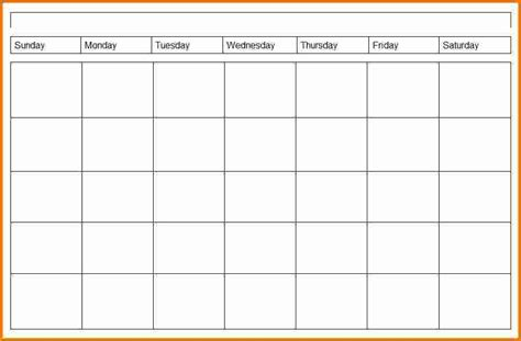 4 Week Schedule Template 4 weekly calendar printable 2017 calendars