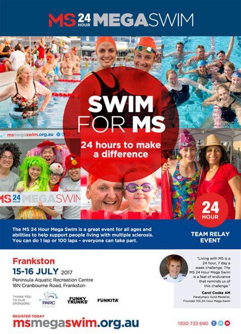 ms to hour ms 24 hour mega swim frankston melbourne