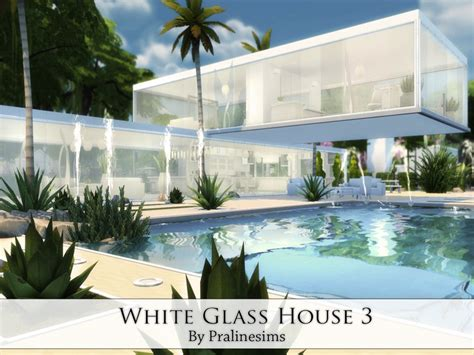 Cost To Build A Modern Home by White Glass House 3 Sims 4 Houses