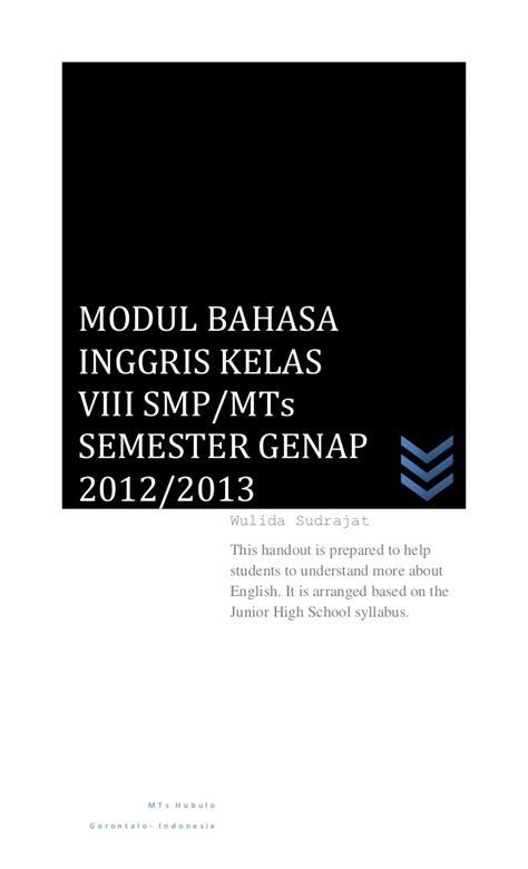 Buku Smp Bahasa Inggris To The Point modul semester genap kelas viii 2013