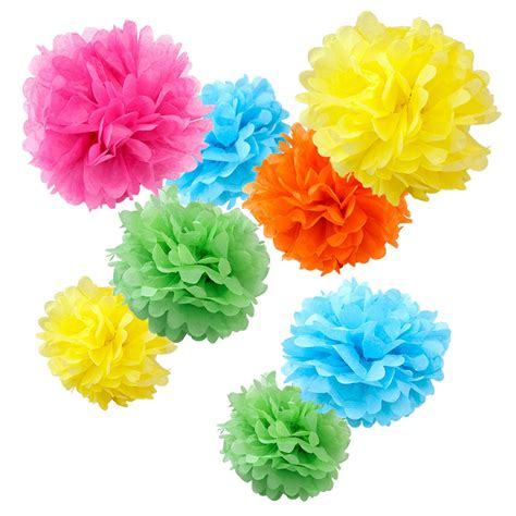 Pompom 60pcs Printable Huruf A Z assorted tropical paper tissue pom poms set of 8 color pack small 8 quot 10 quot 12 quot wyz works