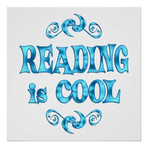 cool reading reading is cool poster zazzle