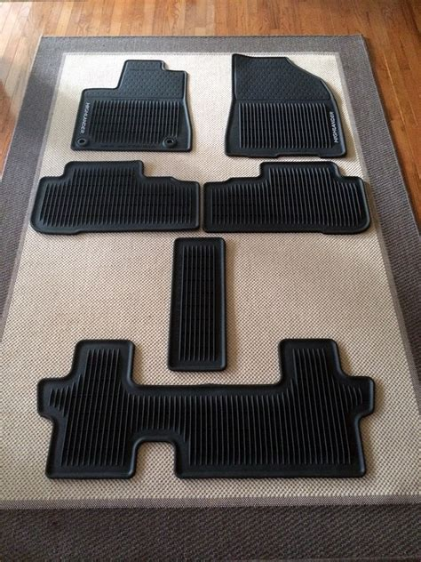 Toyota Highlander Floor Mats Toyota Highlander All Weather Waterproof Floor Mats