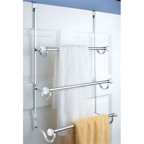 bathroom door towel rack york over door three tier towel rack in over the door