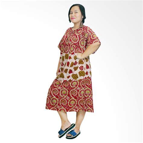 Daster Ibu Batik Daster Ibu Lengan Pendek Grosir Daster Ibu Kb 26 jual batik alhadi dpt003 09c jumbo lengan pendek daster ibu harga kualitas