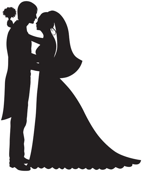Bride And Groom Silhouette Wedding Clipart at GetDrawings ... Free Clipart Bride Silhouette