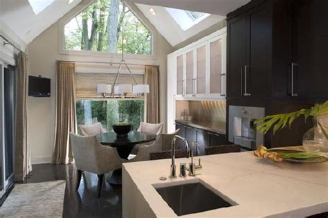 Breakfast Nooks by Kitchen With Vaulted Ceiling Contemporary Kitchen