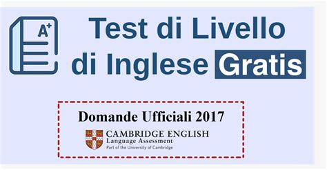 test di test di inglese scopri il tuo livello gratis domande