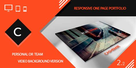 themeforest video background cashemir responsive one page template by kwst themeforest