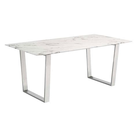 Ss Dining Table Designs Atlas Dining Table Brushed Ss Modern In Designs