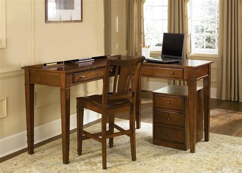 work regular counter height home office desk in amaretto finish by liberty furniture 313