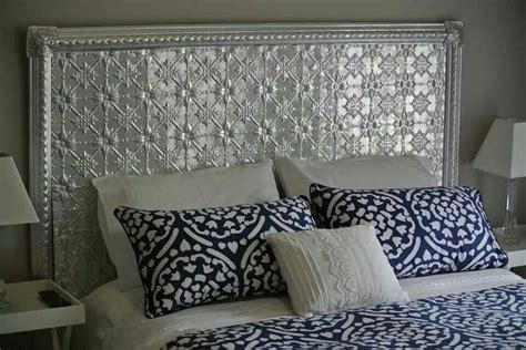 bedheads headboards pressed tin bedhead bedrooms adult pinterest