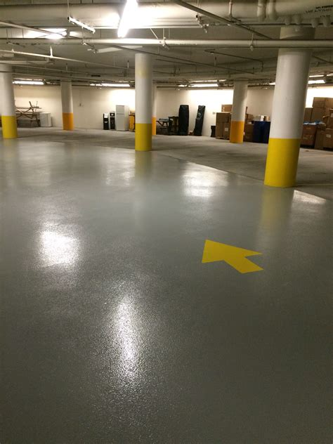 york region center receives new epoxy floor in parking