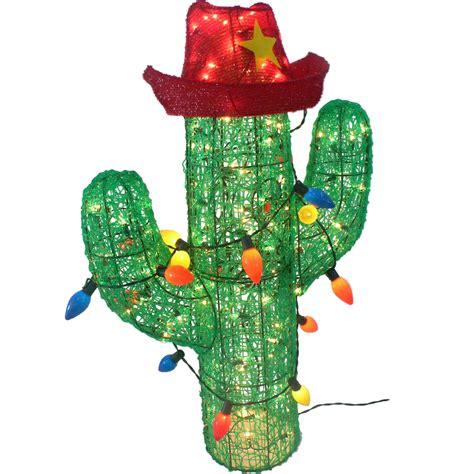 36 in 150 bulb acrylic cactus christmas d 233 cor