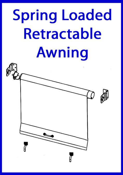 canvas awning parts spring loaded retractable awning coastal canvas and