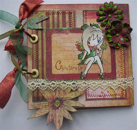 Handmade Scrapbook Albums - ooak handmade day scrapbook photo album