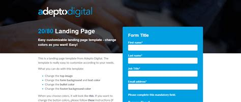 Landing Page Templates Wordpress Simple Landing Page Template